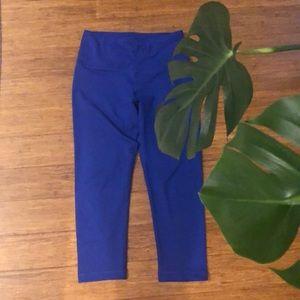 Royal blue capris yoga tights